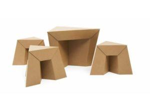 Muebles Reciclados Con Tubos De Carton